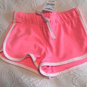 NWT OshKosh 4T pink shorts w/ white trim
